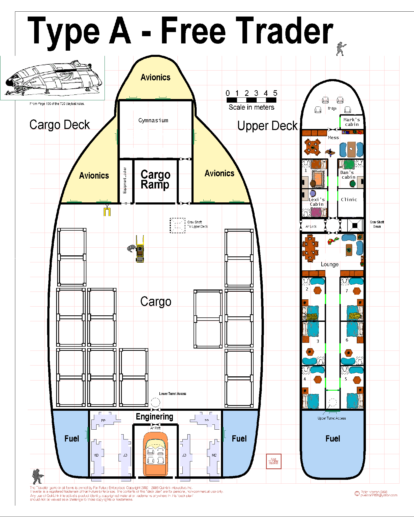 Deck plans for Lucky Penny